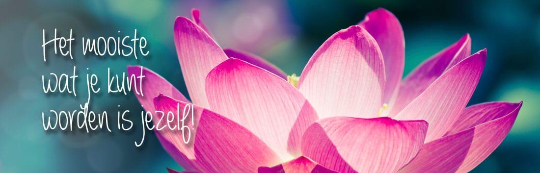 Kindercoaching, Lotus bloem, het mooiste wat je kunt worden is jezelf!